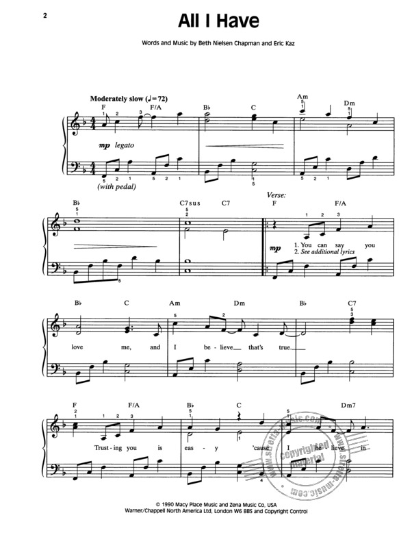 Wedding Sheet Music Hits (1)
