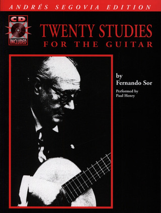 Fernando Sor: 20 Studies For Guitar Book/Cd