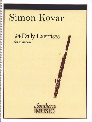 Kovar Simon: 24 Daily Exercises For Bassoon