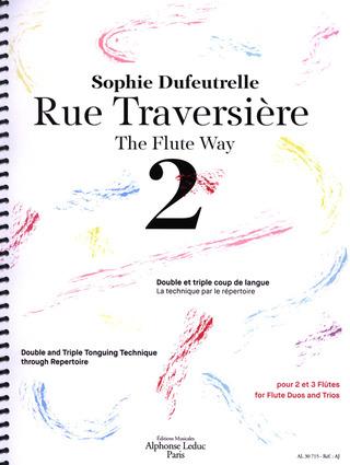 Sophie Dufeutrelle//Brigitte Leborgne Book//CD Rue Traversière 1 Flute Sheet Mu
