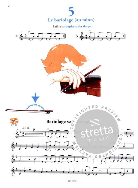 Valérie Bime-Apparailly Violin Sheet Music Instr Je Débute le Violon avec CD