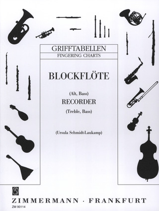 Ursula Schmidt-Laukamp: Fingering Charts for Recorder (Treble, Bass)