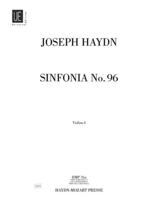 "Joseph Haydn: Sinfonia Nr. 96 für Orchester D-Dur Hob. I:96 ""The Miracle; 6. Londoner; Salomon-Symphonie"" (1791)"