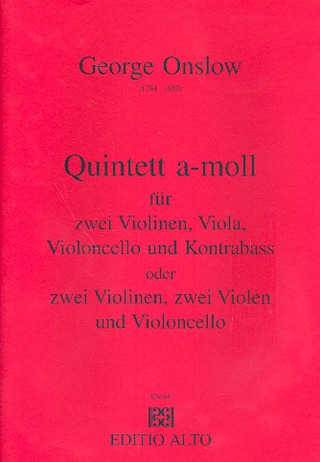 George Onslow: Quintett a-Moll