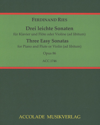Ferdinand Ries: Three Easy Sonatas op. 86