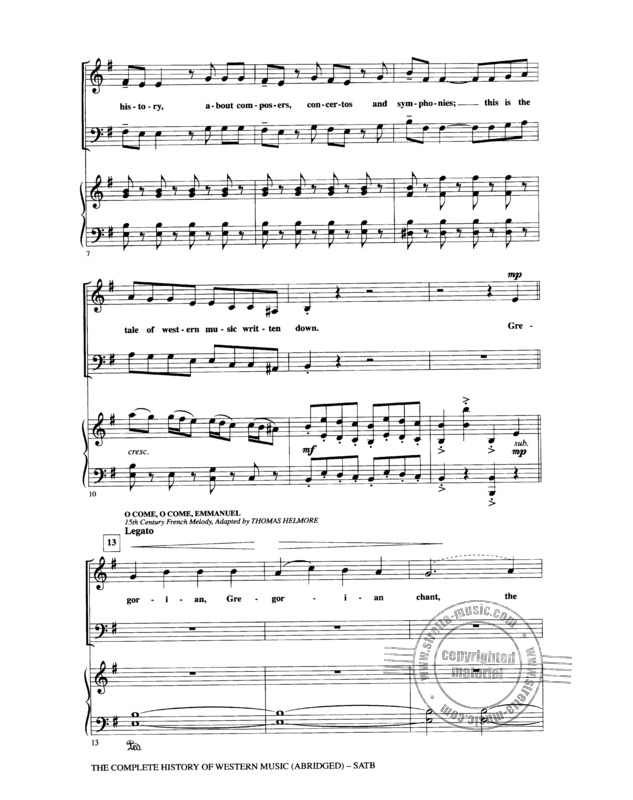 The Complete History Of Western Music (Abridged) Satb (1)