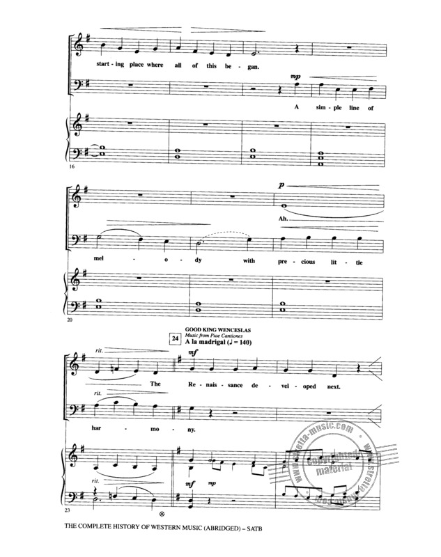 The Complete History Of Western Music (Abridged) Satb (2)