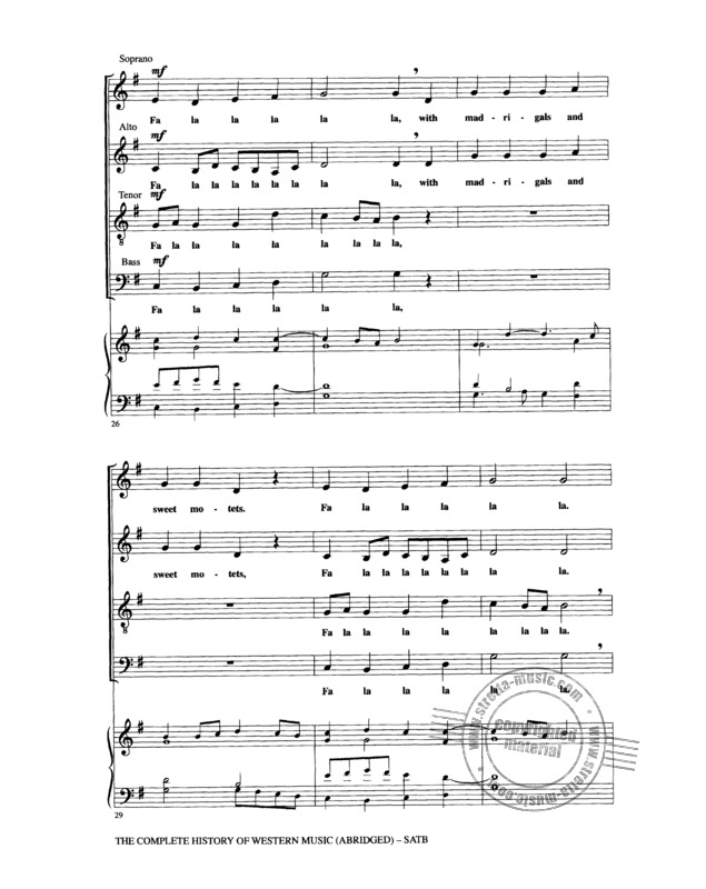 The Complete History Of Western Music (Abridged) Satb (3)