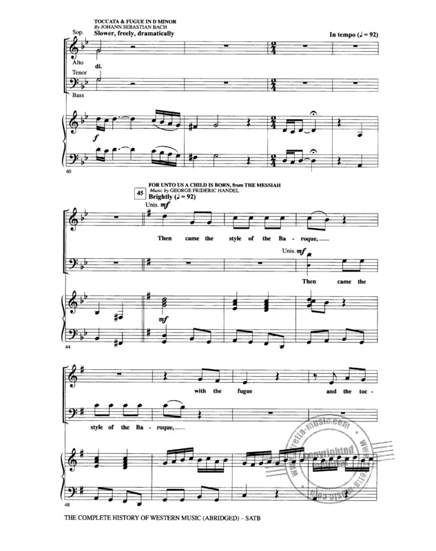 The Complete History Of Western Music (Abridged) Satb (5)