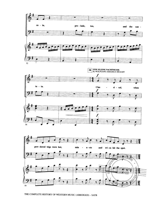 The Complete History Of Western Music (Abridged) Satb (6)