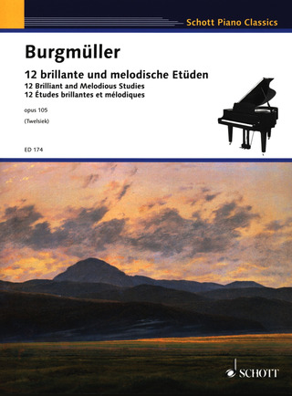 Friedrich Burgmüller: Twelve Brilliant and Melodious Studies op. 105