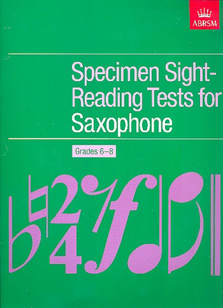 Johann Sebastian Bach: Specimen Sight-Reading Tests for Saxophone Grades 6-8