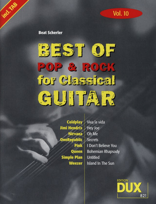 Best of Pop & Rock for Classical Guitar 10