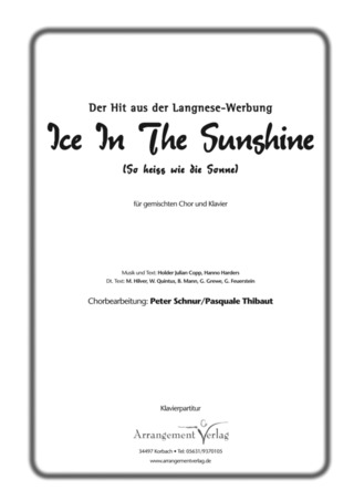 Holger Julian Copp et al.: Ice in the sunshine