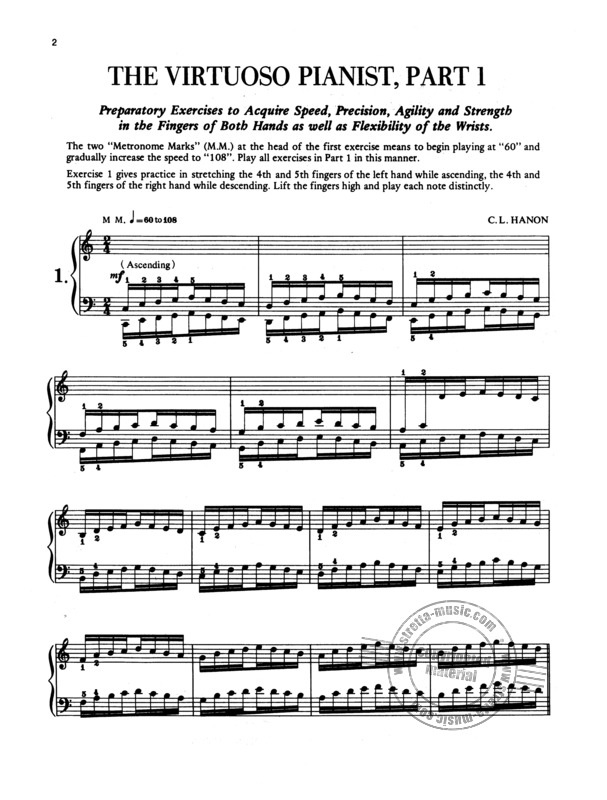 Charles-Louis Hanon: The Virtuoso Pianist In 60 Exercises (1)