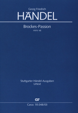 George Frideric Handel: Brockes-Passion HWV 48