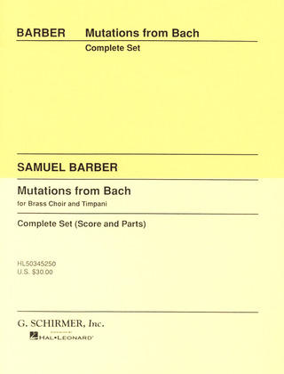 Samuel Barber: Mutations from Bach