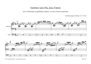 Gottfried August Homilius: Gelobet seist Du, Jesu Christ