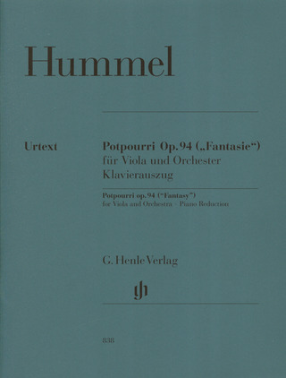 Johann Nepomuk Hummel: Johann Nepomuk Hummel: Potpourri Op.94 (Viola and Piano)