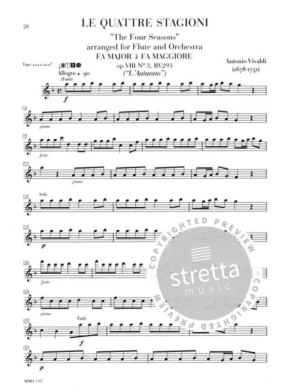 die 4 jahreszeiten von antonio vivaldi  im stretta noten