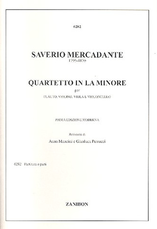 Saverio Mercadante: Quartetto In La