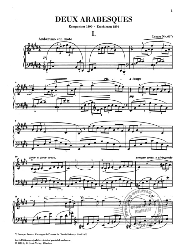 Claude Debussy: Deux Arabesques (1)