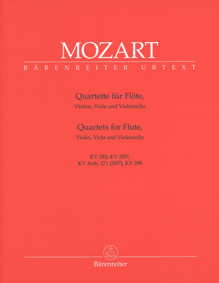 Wolfgang Amadeus Mozart: Quartets for Flute, Violin, Viola and Violoncello