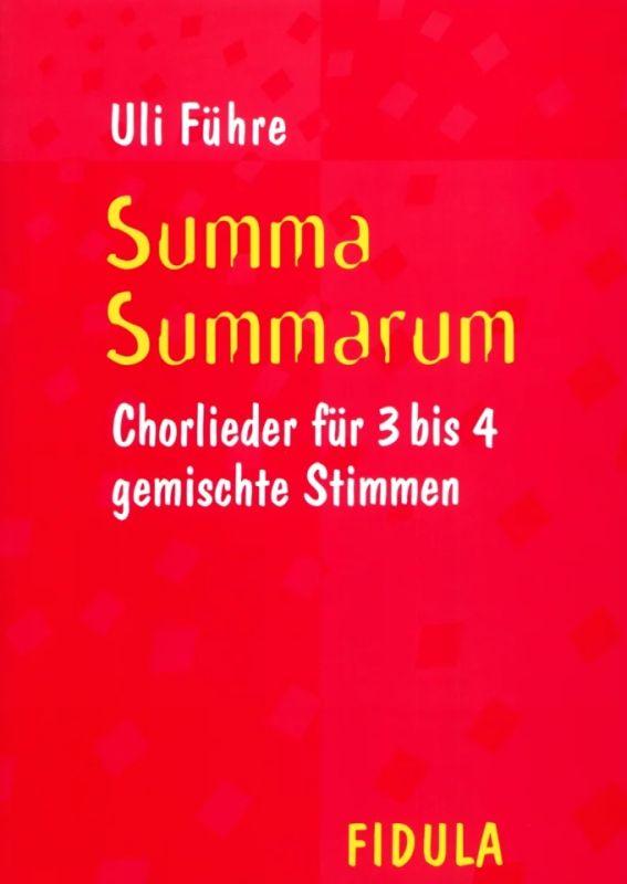 Summa Summarum From Uli Fuhre Buy Now In Stretta Sheet Music Shop