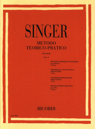 Sigismondo Singer: Theoretical and Practical Oboe School 5