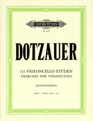 Friedrich Dotzauer: 113 Exercises for Violoncello 1