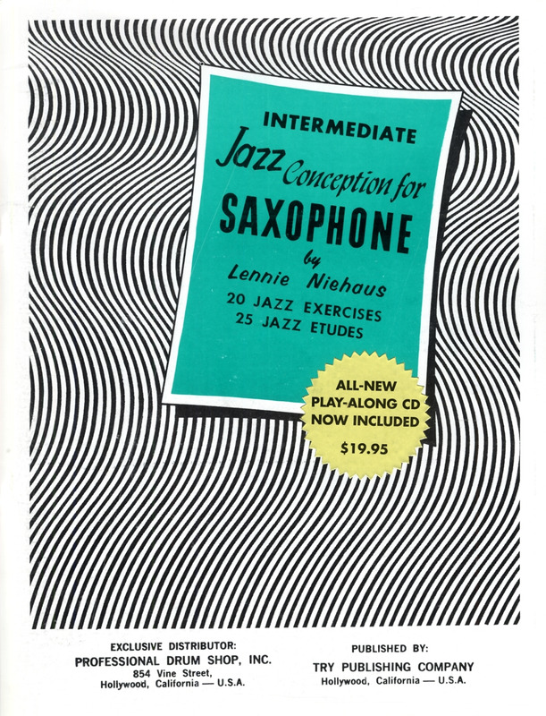 NIEHAUS JAZZ CONCEPTION FOR SAXOPHONE DUETS CD