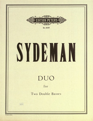 Sydeman William J.: Duo für 2 Kontrabasse