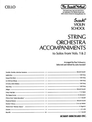 Shin'ichi Suzuki: String Orchestra Accompaniments