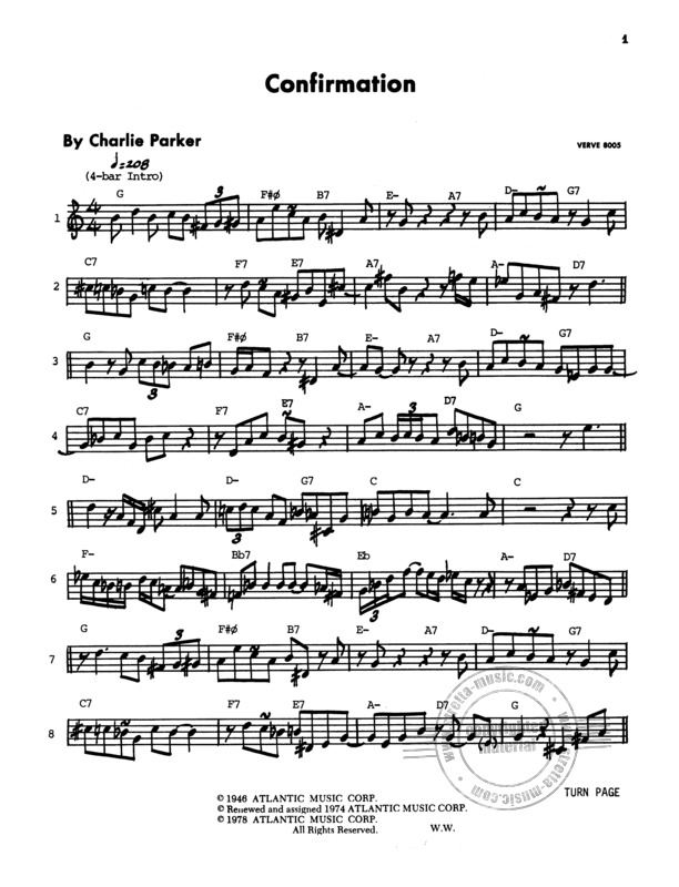 Parker Charlie Omnibook B Flat Instruments Edition From Charlie Parker Buy Now In Stretta Sheet Music Shop