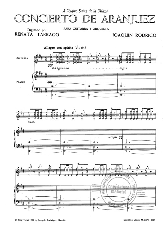 Concierto De Aranjuez From Joaquín Rodrigo Buy Now In Stretta Sheet Music Shop