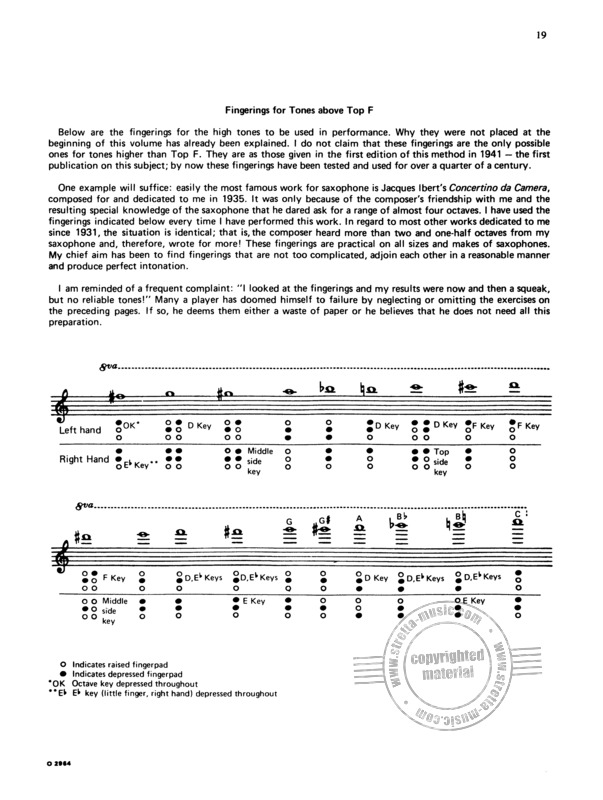Sigurd Rascher: Top-Tones for the Saxophone (4)