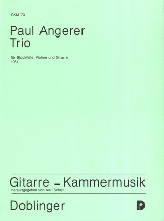 Paul Angerer: Trio (1961, ers)