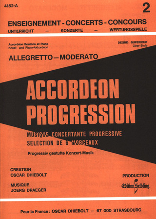 Jörg Draeger: Allegretto Moderato - Accordeon Progression 2 Bd 5