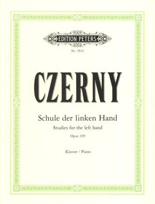 Carl Czerny: Studies for the Left Hand op. 399