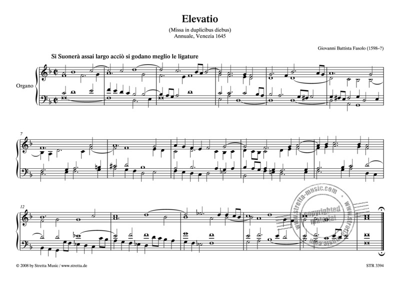 Giovanni Battista Fasolo: Elevatio