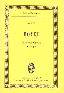 William Boyce: Concerto grosso  B-Dur
