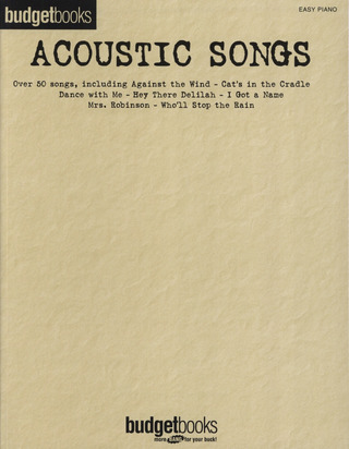 Budget Books: Acoustic Songs