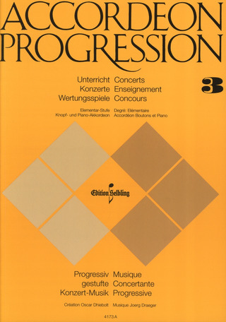 Jörg Draeger: Accordeon Progression 3 Elementarstufe