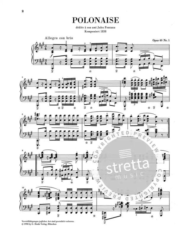 polonaise a major op. 40/1 from frédéric chopin | buy now in the stretta sheet  music shop  stretta music