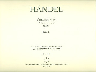 George Frideric Handel: Concerto grosso A-Dur op. 6/11 HWV 329