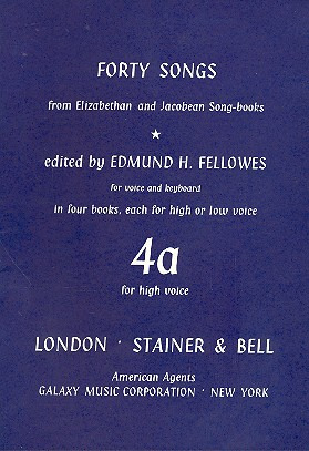 40 Songs from Elizabethan and Jacobean Songbooks 4