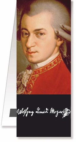 Bookmark magnetic - Mozart Portrait
