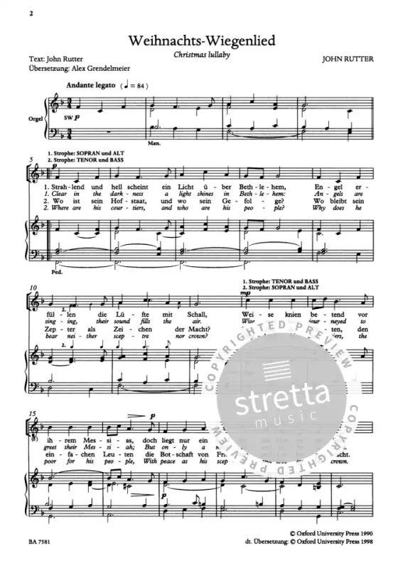 Christmas Lullaby.Christmas Lullaby From John Rutter Buy Now In Stretta