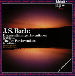 Johann Sebastian Bach: The Two Part Inventions for two Guitars