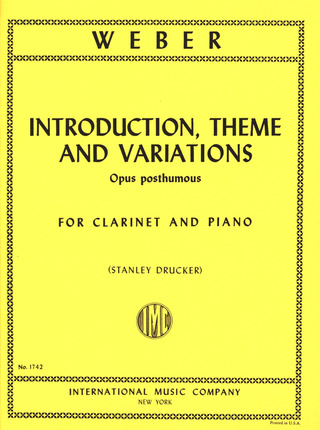 Carl Maria von Weber: Introduction Theme + Variations